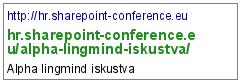 http://hr.sharepoint-conference.eu/alpha-lingmind-iskustva/